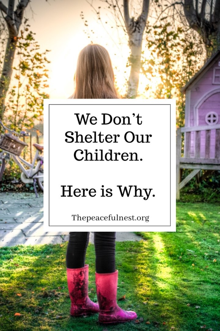 We Don't Shelter Our Children. Here isWhy.